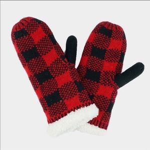 Sherpa Buffalo Plaid Mittens